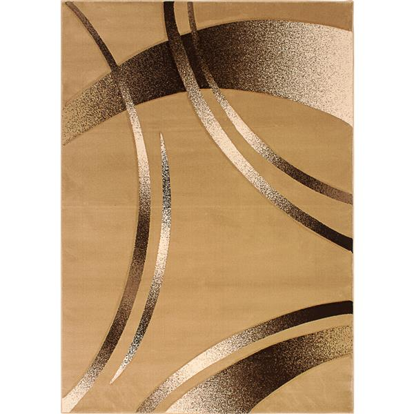 Segma Reflections 5-Ft x 8-Ft Beige Belle Area Rug