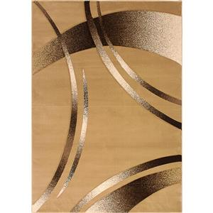 Segma Reflections 5-Ft x 8-Ft Beige Belle Area Rug
