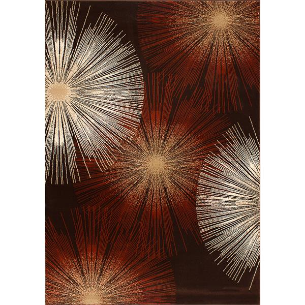 Segma Dominique 2-ft x 3-ft Brown Rectangular Area Rug