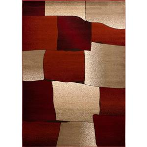 Tapis Nancy, 8' x 11', rouge