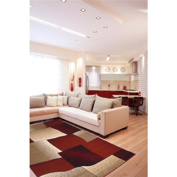 Segma Monaco 5-ft x 8-ft Red Nancy Area Rug