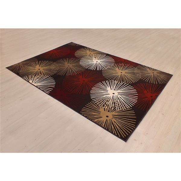 Segma Heidi Alberta 5-ft x 8-ft Brown Indoor Area Rug