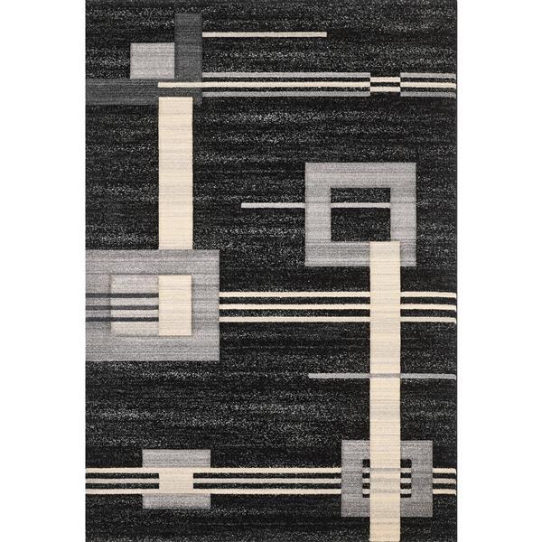Segma Sahara 5-ft x 8-ft Joyce Black Area Rug