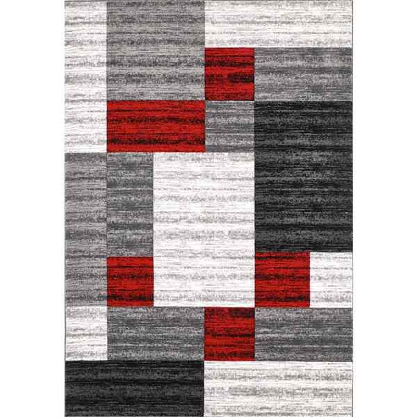 Tapis Nida, 5' x 8', gris