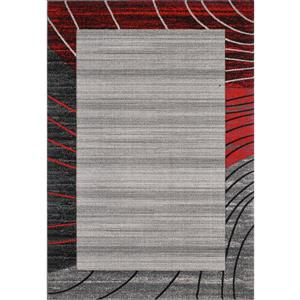 Tapis Abri , 8' x 11', gris