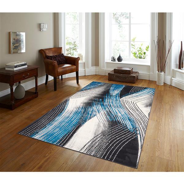 Segma Venice 8-ft x 11-ft Gray Rectangular Area Rug