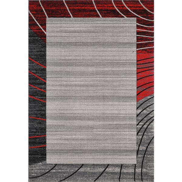 Segma Sahara 5-ft x 8-ft Grey Abri Area Rug