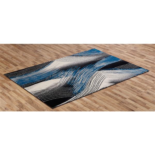 Tapis  Denice, 5' x 8', bleu