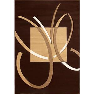 Tapis Fabiana de la collection Luminance, brun, 8' x 11'