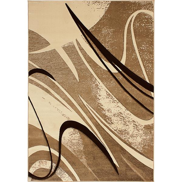Segma Reflections 5-ft x 8-ft Beige Area Rug