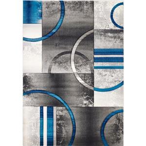 Segma Sophia 5-ft x 8-ft Crystal Gray-Blue Area Rug