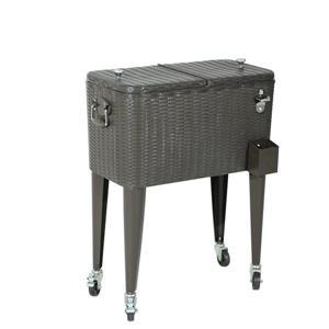 Sunjoy Wicker Cooler - 60 Qt - Brown