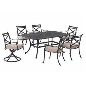 Ensemble à dîner pour patio de Sunjoy, noir, 7 mcx