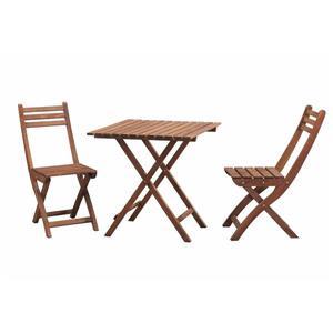 Ensemble bistro en bois de Sunjoy, brun, 7 mcx