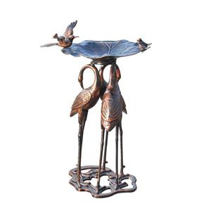Sunjoy 35-in Bronze Serene Bird Bath
