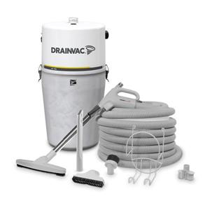 Drainvac Central Vacuum Large Capacity 41L with Accessory Kit