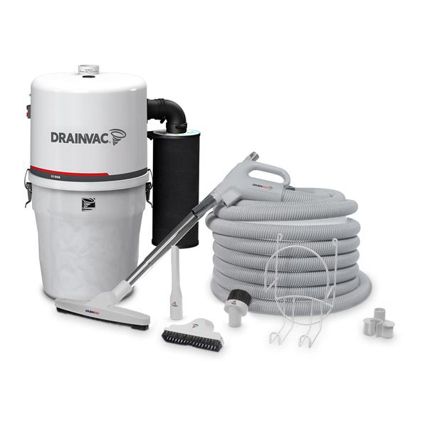 Drainvac Central Vacuum Compact 17L with Accessory Kit
