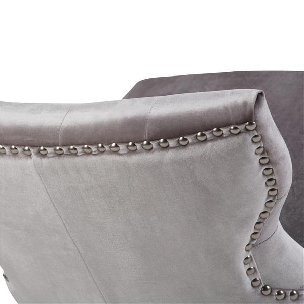 Simpli Home KItchener Grey Accent Chair