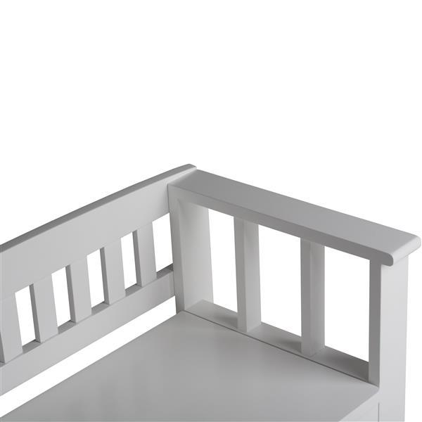 Banc de rangement Acadian , blanc