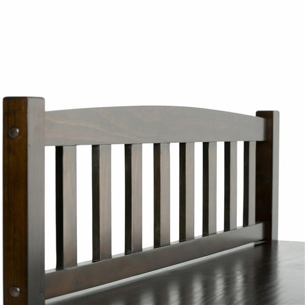Simpli Home Burlington 46.30-Lbs 28.90-In x 42-In x 17-In Espresso Brown 2 Drawer Indoor Storage Bench