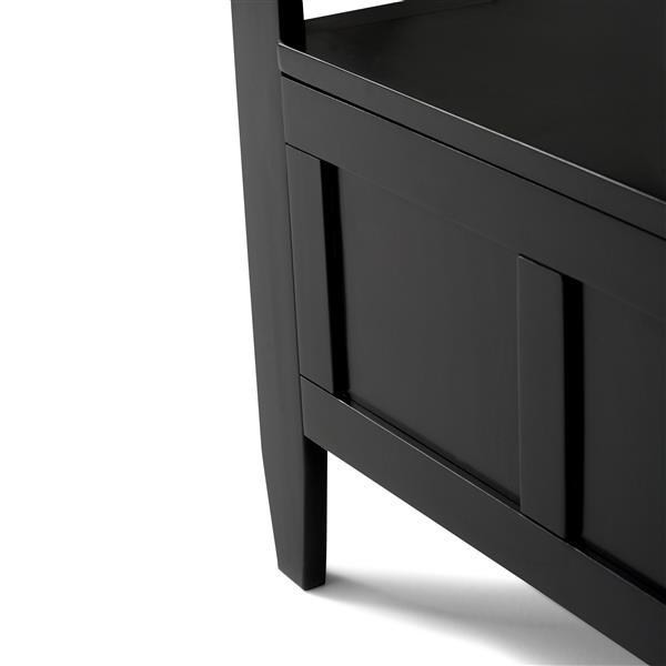 Simpli Home Brooklyn 37-Lbs Heigth 28-In Length 48-In Depth 17-In Auburn Black Flip Top Wooden Indoor Storage Bench