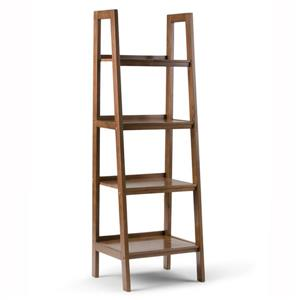 Sawhorse 24-in Saddle Brown 4-Shelf Ladder Bookcase