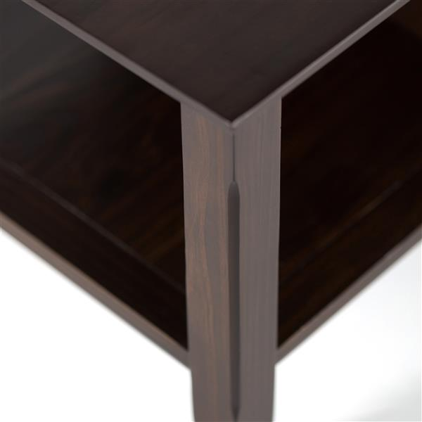 Simpli Home Acadian 47.5-in x 24-in x 18.5-in Tobacco Brown Stain Coffee Table