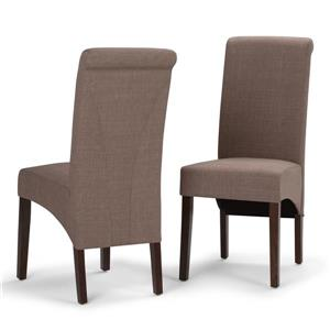 Simpli Home Avalon Brown Dining Chairs (Set of 2)