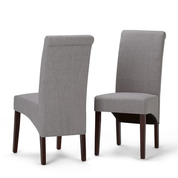 Simpli Home Avalon Grey Dining Chairs (Set of 2)