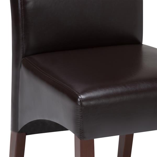 Simpli Home Avalon Dark Brown Dining Chairs (Set of 2)