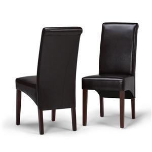 Chaises de salle à manger Avalon, 2 mcx, brun foncé