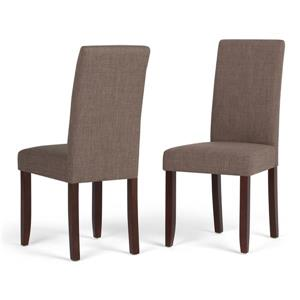 Simpli Home Acadian Mocha Dining Chairs (Set of 2)