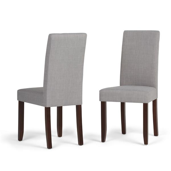 Simpli Home Acadian Grey Dining Chairs (Set of 2)