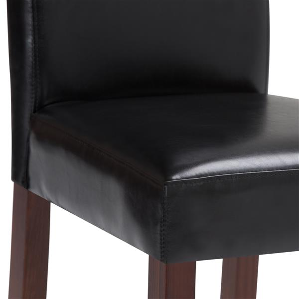 Simpli Home Acadian Black Dining Chairs (Set of 2)