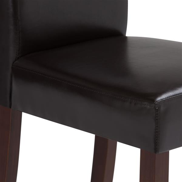 Simpli Home Acadian Brown Dining Chairs (Set of 2)