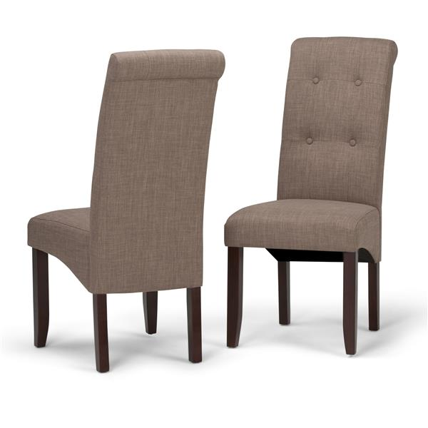 Simpli Home CorLiving Cosmopolitan Brown and 18.90-in X 42.10-in Dining Chairs Set of 2