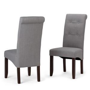 Chaises de salle à manger Cosmopolitan , 2 mcx, gris