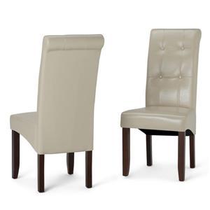 Chaises de salle à manger Cosmopolitan, 2 mcx, crème