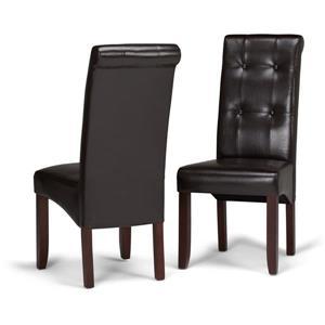 Chaises de salle à manger Cosmopolitan, 2 mcx, brun