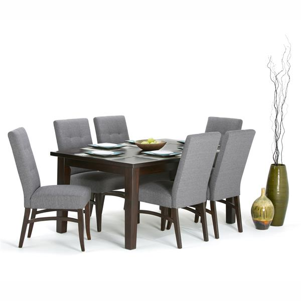 Simpli Home  66-in x 40-in Brown Eastwood Dining Table