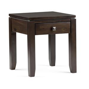 Simpli Home Cosmopolitan 17.5-in x 17.5-in x 20.1-in Coffee Brown End Table
