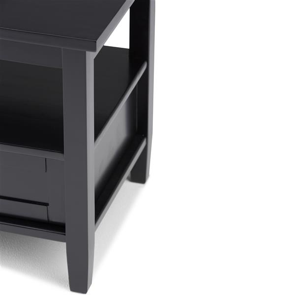 Simpli Home Warm Shaker 20.1-in x 18.1-in x 19.7-in Black End Table