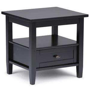 Table d'appoint de style Shaker, noir