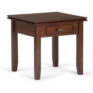 Table d'appoint Artisan de Simpli Home, brune, 20,5 po x 20,5 po x 20 po
