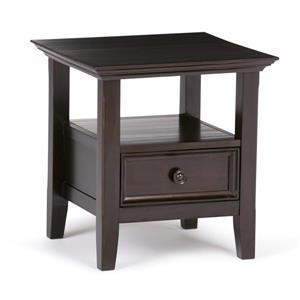 Table d'appoint Amherst, brun foncé