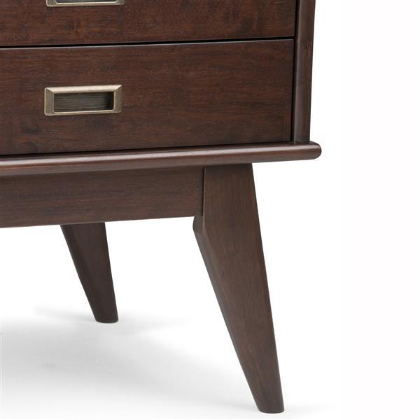 Table d'appoint d'époque Draper, brun châtain