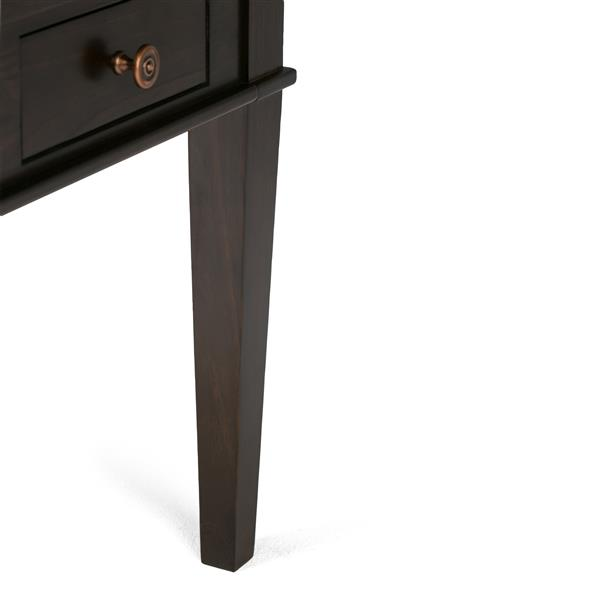 Simpli Home Carlton 17.9-in x 18-in x 20-in Tobacco Brown End Table