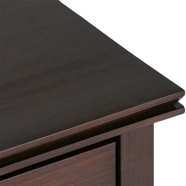 Simpli Home Artisan 24-in x 15-in x 27-in Auburn Brown Bedside Table