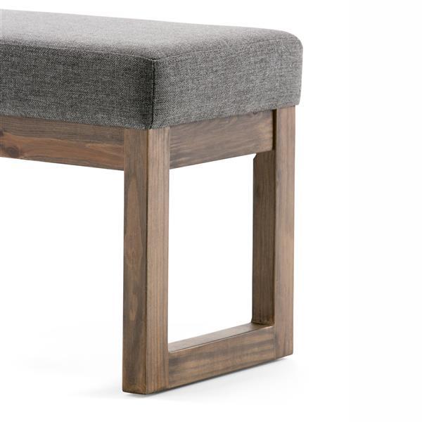 Simpli Home Milltown 26.8-in x 14.4-in x 18.4-in Grey Small Ottoman Bench