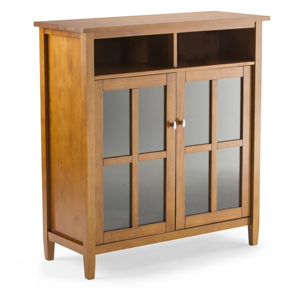 Simpli Home Warm Shaker Honey Brown Storage Cabinet
